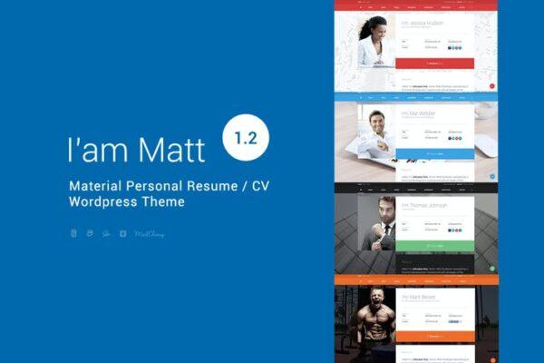 I am Mat - Material Personal WordPress 1