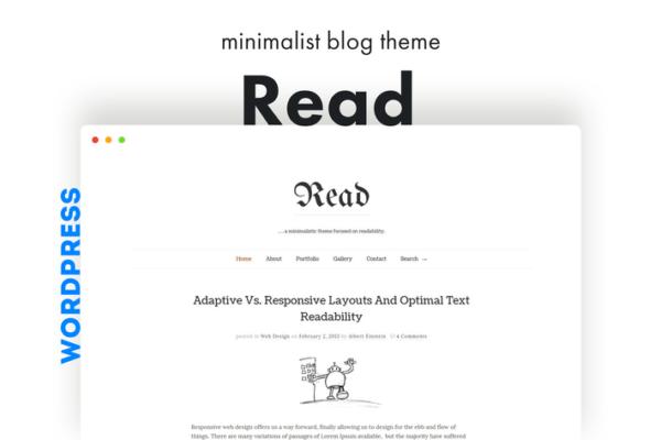 Read WP - Minimalist WordPress Blog Theme 1