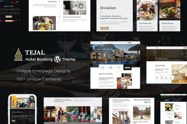 Tejal - Resort, Hotel Booking WordPress Theme 1