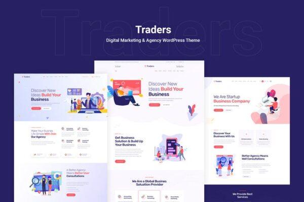 Traders - Digital Marketing & Agency WordPress 1
