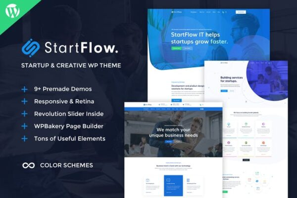 StartFlow - Creative Multipurpose WordPress Theme 1
