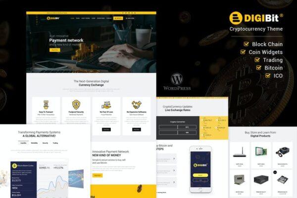 DigiBit - Cryptocurrency Mining WordPress Theme 1