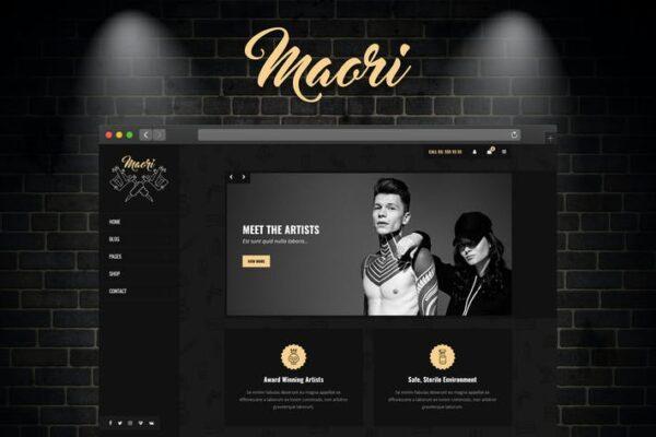Maori - Tattoo Studio WordPress Theme 1