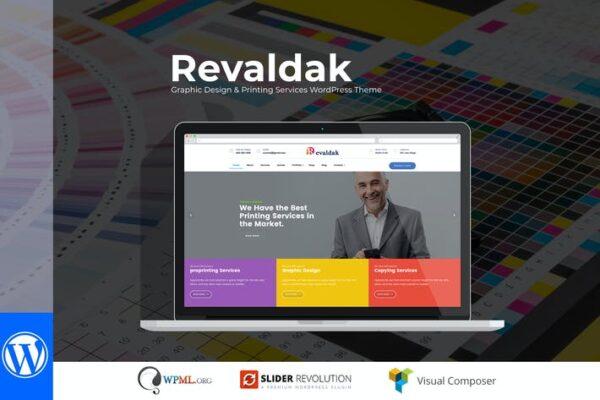 Revaldak - Printing Services WordPress Theme 1