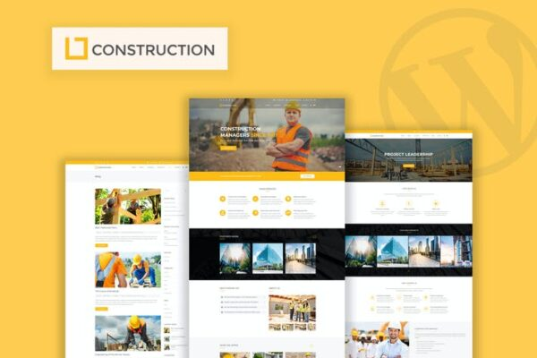 Construction - Business & Building WordPress Theme 1