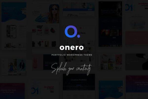 Onero - Creative Portfolio Theme for Professionals 1