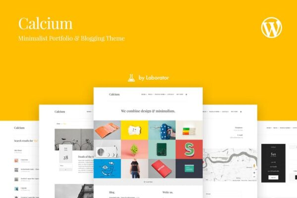 Calcium - Minimalist Portfolio & Blogging Theme 1