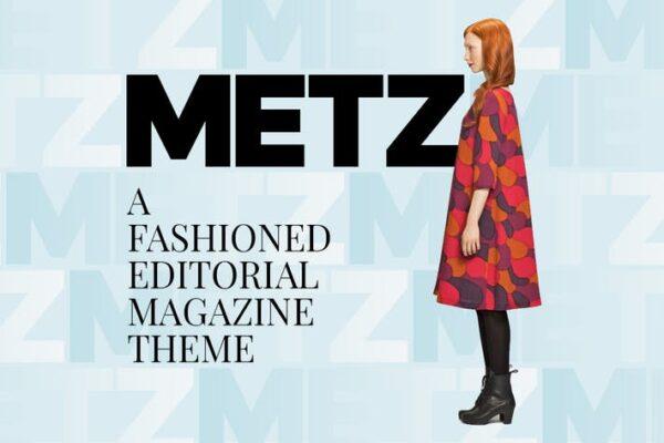 Metz - Editorial Magazine Blog Theme 1
