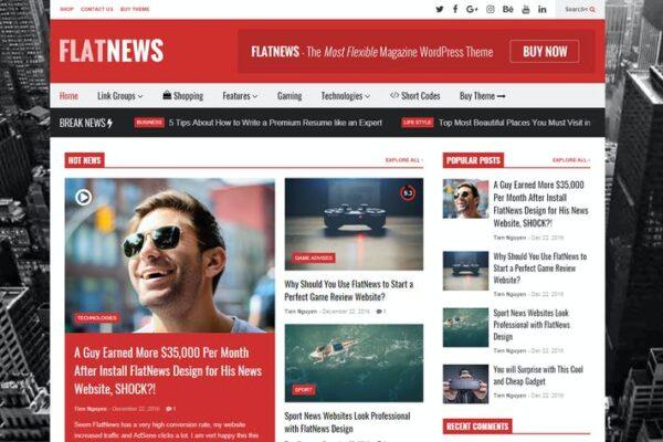 FlatNews – Responsive Magazine WordPress Theme 1