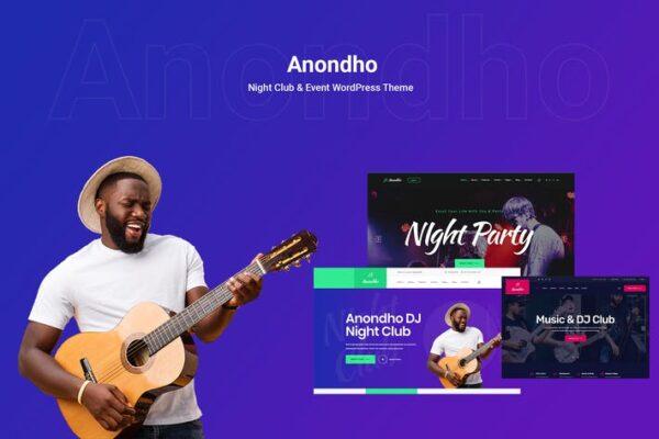 Anondho - Night Club & Event WooCommerce WordPress 1