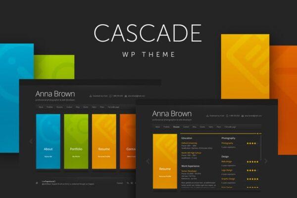 Cascade - Personal vCard WordPress Theme 1