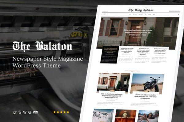 Balaton - Newspaper style Magazine WordPress Theme 1