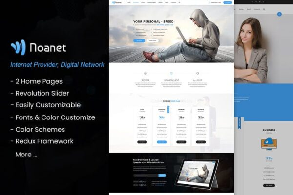 Noanet - Internet, Digital Network WordPress Theme 1