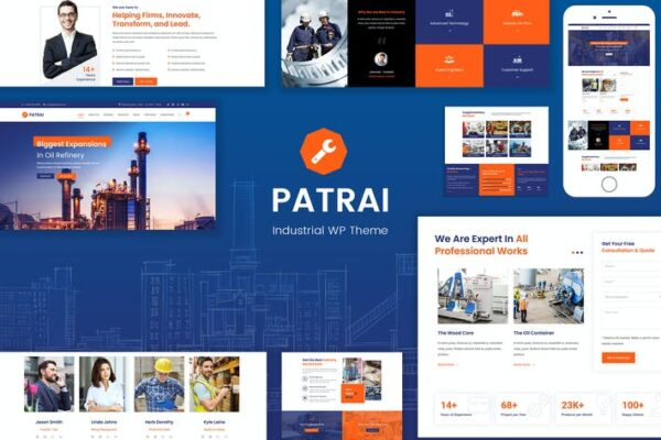 Patrai Industry - Industrial WordPress 1