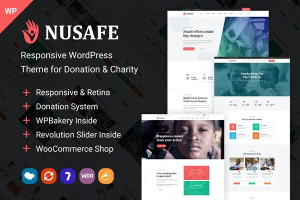 Nusafe - WordPress Theme for Donation & Charity 1