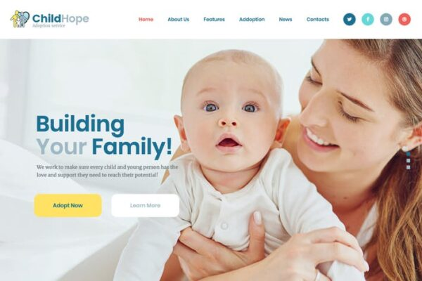 ChildHope - Child Adoption Service & Charity WP 1