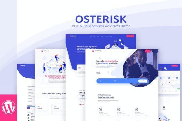 Osterisk: VOIP & Cloud Services WordPress Theme 1