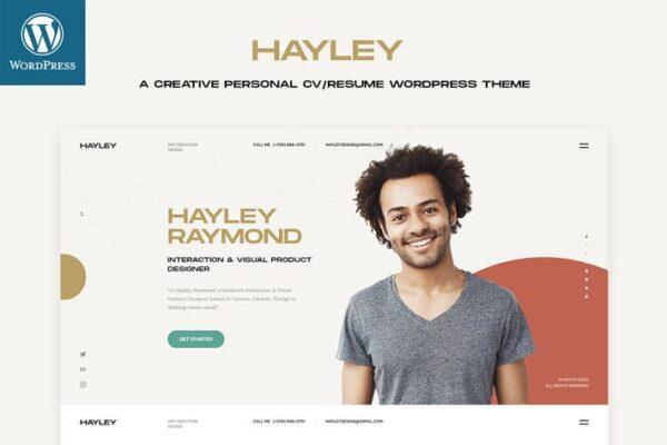 Hayley - Personal CV/Resume WordPress Theme 1