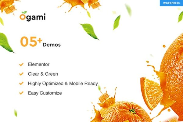 Ogami - Organic Store & Bakery WordPress Theme 1