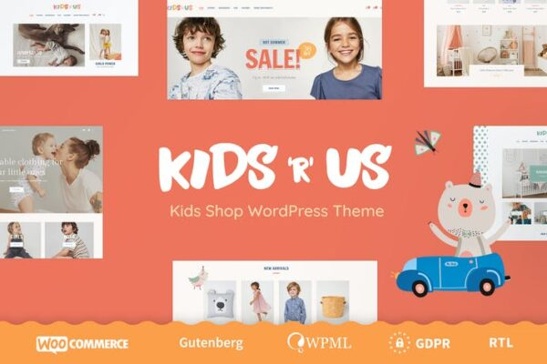 Kids R Us - Toy Store and Kids Clothes Shop Theme 1