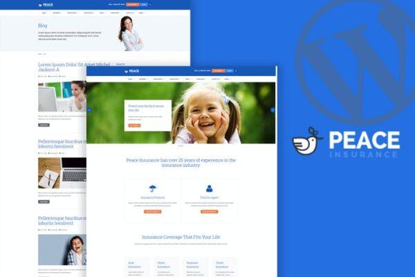 Peace – Insurance Agency WordPress Theme 1