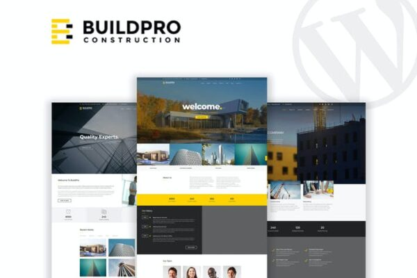 BuildPro - Business & Construction WordPress Theme 1