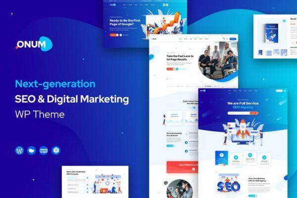 Onum - SEO & Marketing Elementor WordPress Theme 1