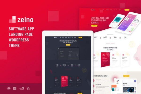 Zeino - App Landing WordPress Theme 1