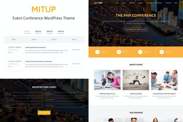 MitUp - Event & Conference WordPress Theme 1