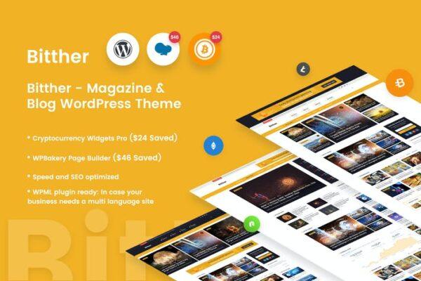 Bitther - Magazine & Blog Wordpress Theme 1