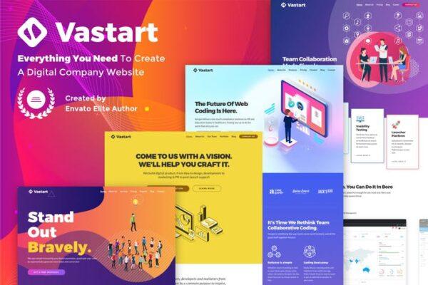 Vastart - Digital Company & Startup Theme 1
