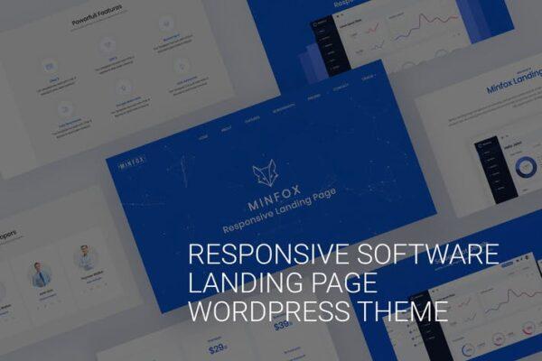 Onepage Business WordPress Theme - Minfox 1
