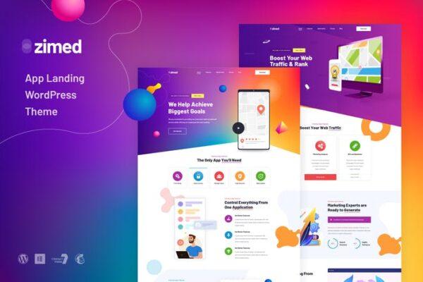 Zimed - App Landing WordPress Theme 1