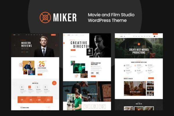 Miker - Movie and Film Studio WordPress Theme 1