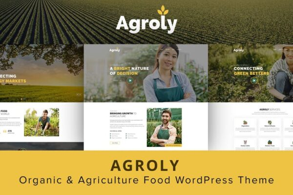 Agroly - Organic & Agriculture Food WordPress 1