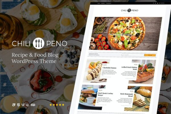 Chilipeno - Recipe & Food WordPress Theme 1