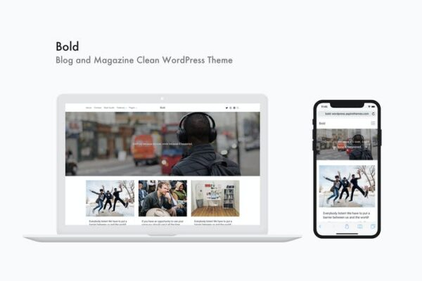 Bold - Blog and Magazine Clean WordPress Theme 1