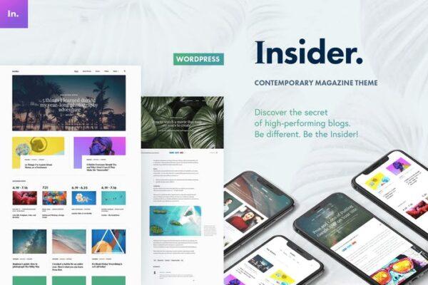 Insider - Contemporary Magazine and Blogging Theme 1