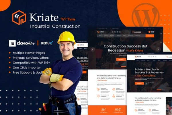 Kriate - Industrial Construction WordPress Theme 1