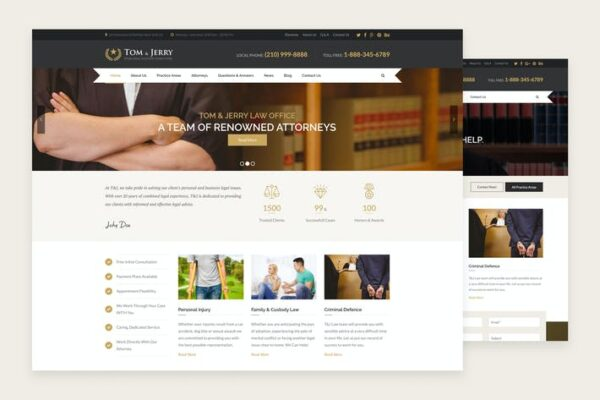 Tom & Jerry - A WordPress Law and Business Theme 1