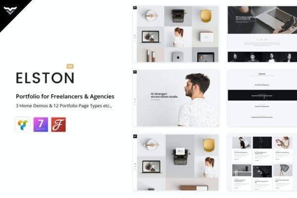 Elston - Portfolio for Freelancers & Agencies 1
