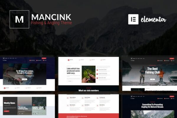 Mancink - Fishing & Angling WordPress Theme 1