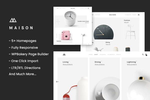 Maison - Minimalist eCommerce WordPress Theme 1