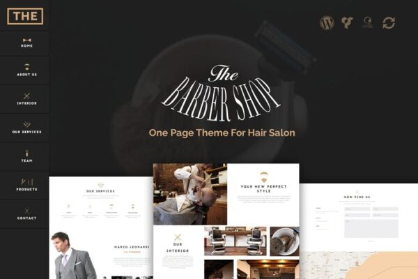 The Barber Shop - One Page Theme For Hair Salon 1