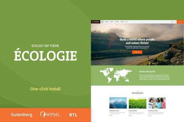 Ecologie - Environmental & Ecology WordPress Theme 1
