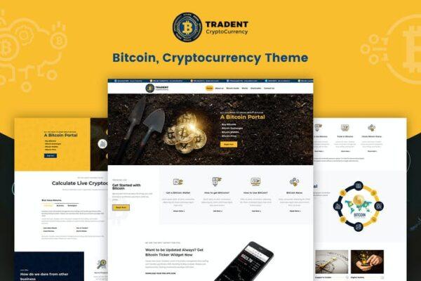 Tradent Cryptocurrency - Bitcoin, Crypto Theme 1