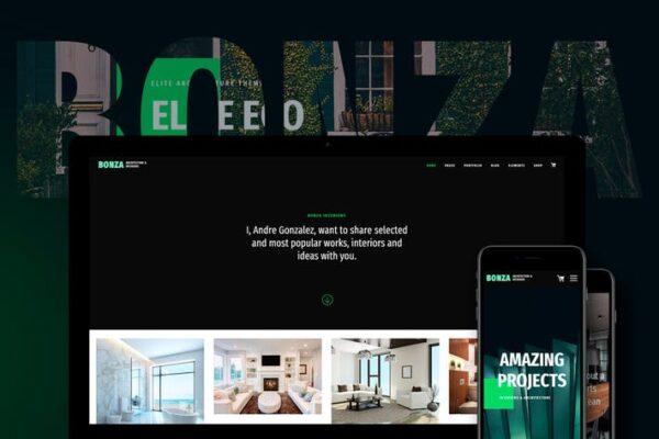 Bonza Architecture & Interior WordPress Theme 1