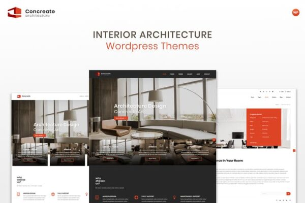 Concreate - Interior Architecture WordPress Theme 1