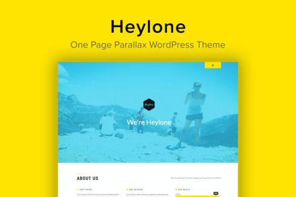 Heylone - One Page Parallax WordPress Theme 1