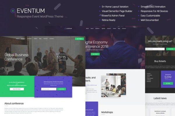 Eventium - Responsive Event WordPress Theme 1